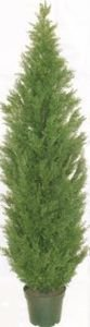 6 foot Artificial Cedar Topiary Tree in a Pot by Silk Tree Warehouse