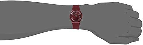 Swatch Worldhood Quartz Silicone Strap, Red, 16 Casual Watch (Model: GR405) WeeklyReviewer
