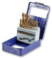 19 Piece Titanium Alloy Steel Drill Bit Set by Duratool