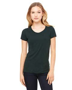 Bella womens Triblend Short-Sleeve T-Shirt(B8413)-EMERALD TRIBLEND-L