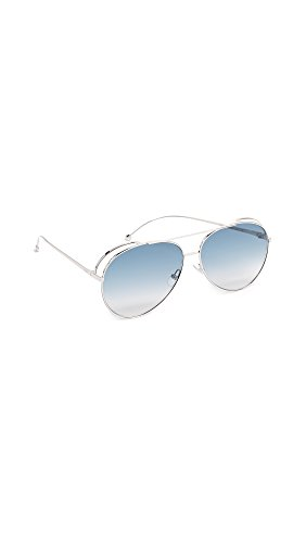 Fendi Women's Double Rim Aviator Sunglasses, Gold Copper/Brown, One - Fendi Frames