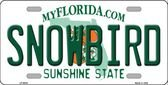 Snowbird Florida License Plate Background Novelty Metal License Plate - Sunshine Online Florida