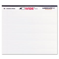 Wholesale CASE of 25 - Roaring Spring Wide Landscape White Writing Pads-Wide Landscape Pads, 40 Shts, 11''x9-1/2'', White
