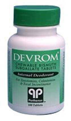 DEVROM Tablets (Internal Deoderant) -Bottle of 100 (packaging my vary)