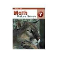 Answer key for Math Makes Sense 7 Practice and Homework Book: Teacher's Edition