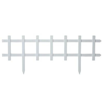 EmscoGroup 2120HD Resin Cape Cod Style Garden Fence, 50 ()