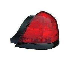 1999 - 2011 Ford Crown Victoria Passenger Taillight Taillamp (with 2 bulb holes and Black trim) NEW 8W7Z13404A FO2801160