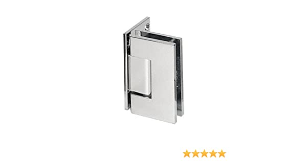CRL Vienna 037 Series Chrome Wall Mount Shower Door Hinge with Internal 5 Degree Pin
