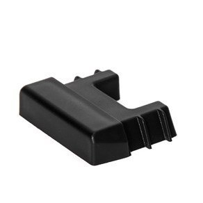 E Track Tie-Down Rail End Cap - Durable Black Plastic End Protector Cover for Vertical E Track Tie-Down Rails: E-Tracks NOT Included ()