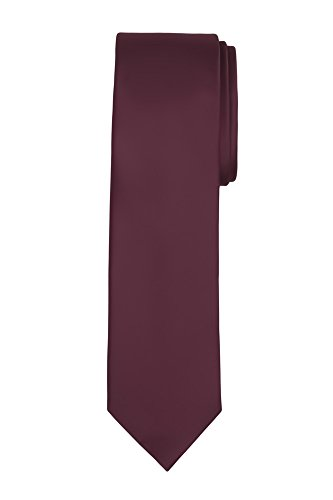 Jacob Alexander Boy's Regular Self Tie Prep Solid Color Necktie - (Regular Tie End)