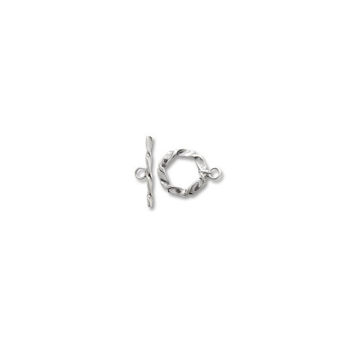 Twisted Wire Toggle Clasp 14mm Sterling Silver (Sterling Silver Twisted Wire Toggle)