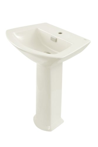 - TOTO LPT960#11 Soiree Lavatory and Pedestal with Single Hole, Colonial White