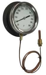 Industrial Grade 12U658 Panel Mount Thermometer, 200 to 450 - Thermometer Panel Mount