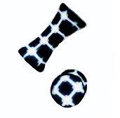 Oreille-clous, numériques carrés en bleu et blanche; 4mm