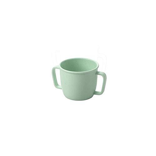 230 ml Vaso de bamb/ú con doble asa para ni/ños productos de cuidado personal color verde n/órdico color verde n/órdico suministros diarios para salud y belleza
