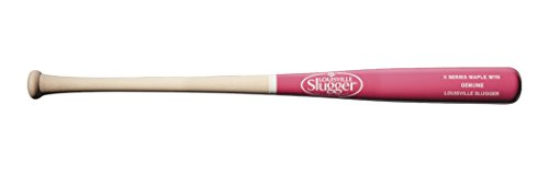 Louisville Slugger M110 Genuine S3 Maple Baseball Bat, Split Natural/Pink, 32'/29 oz