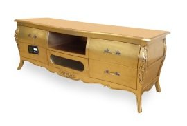 Amazon De French Style Bordeau Tv Mobel Schrank Gold