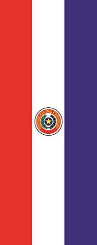 U24 Bandera de Paraguay verticales Premium Calidad 150 x 400 cm
