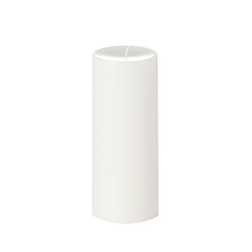 Yummi 4x10 Unscented Column Pillar Candle, White, ea