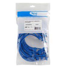 ICC CAT 5e Molded Patch Cords 25Pack 3 ft ICPCSC03BL Blue