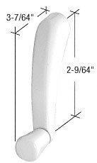 C.R. LAURENCE EP24027 CRL Bright White Maxim Crank Handle