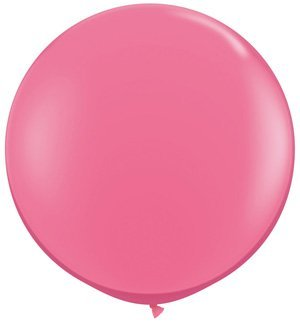 Qualatex Round Latex Giant Balloon (Pack of 2), 3', Rose -