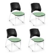 OFM 325-4PK-2207 Stars Series Armless Fabric Stacking Chair, Sage Green (Pack of 4) - Ofm Armless Stacking Chair