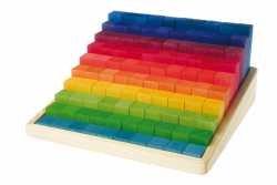 Grimm's Spiel und Holz Design - 100 Piece Stepped Building & Counting Block Set by Grimm's Spiel und Holz Design