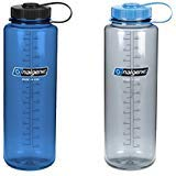 Nalgene Silo Nalgene Silo 48oz Tritan Wide Mouth Bottle - 2 Pack (Gray and Blue) by Nalgene