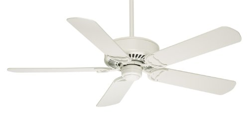 Casablanca Indoor Ceiling Fan, with remote control - Panama 54 inch, White, 59510 ()