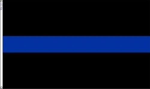 ALBATROS 3 ft x 5 ft Police Memorial Thin Blue Line Flag Law Enforcement Banner Grommets for Home and Parades, Official Party, All Weather Indoors Outdoors ()