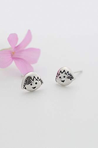 s925 Silver Earrings earings Dangler Eardrop Cute Chibi Maruko Women Girls Personality Lovely Lovely Woman da Gift Thai Silver by KGELE Earrings