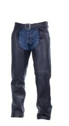 Victory Leather Chap - Victory Motorcycle Mens Black Leather Chaps- 5xlarge
