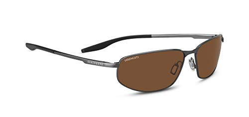 POLARIZED BLACK BRUSHED Gafas de MATERA Serengeti hombre CAT DRIVERS Sol YwxpPBRCq