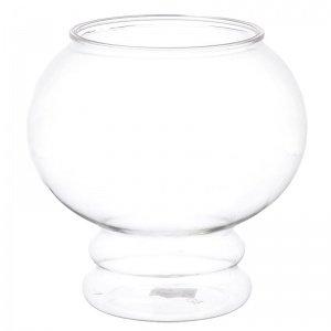 API Aquarius Plastic Fish Bowl with Pedestal: 1 6 Gallon 9 Diameter x 9 5 High