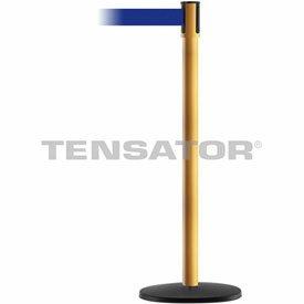 Tensabarrier Yellow Slimline 7.5'L Blue Retractable Belt Barrier