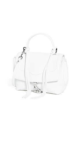 Rebecca Minkoff Women's Stella Mini Flap Satchel Bag, Optic White, One ()