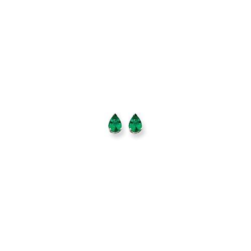 14k White Gold 7x5 Pear Earring Mountings