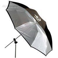 Photogenic 45'' Eclipse Umbrella with White Satin Interior & Black Cover.(EC45BC) by Photogenic