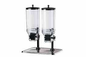 Dispensador de cereales dispensador copos de maíz de acero inoxidable 2 x 7,5 L