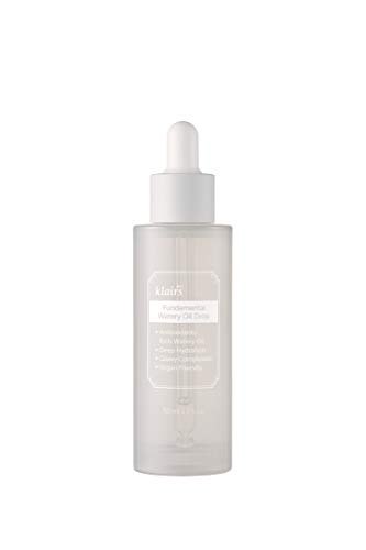 DearKlairs Fundamental Watery Oil Drop, 1.69 Fl Oz, water-based serum with the rich hydration of a facial oil