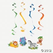 Fun Express - Zoo Animal Dangling (Jungle Theme Animals)