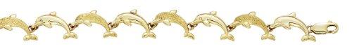 Petit bracelet Dauphins-14ct 18,42cm-JewelryWeb