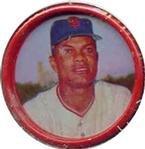 1963 salada tea coins (Baseball) Card# 25 Felipe Alou of the San Francisco Giants NrMt Condition