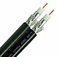 1 carrete RG6/U cable coaxial 18 AWG sólido acero recubierto de cobre al papel