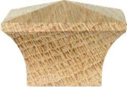 Antique Mission Oak Furniture - Side Grain Mission Square Oak Knob Pull Handle 1-1/2