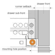 Pro Pack of 10Pcs, Tandem Plus Blumotion 563. Drawer Runner 18'' Drawer