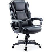 Staples Mcallum Bonded Leather Managers Chair, Black - Leather Chair Staples