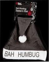 Santa Hat Plush Black Bah Humbug by CC ()
