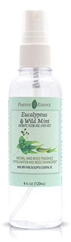 Eucalyptus & Wild Mint Room and Linen Spray, Natural Aromatic Mist Made with Pure Eucalyptus & Wild Mint Essential Oils, Relax Your Body & Mind, Refreshing Air Freshener Odor Eliminator Positive Essen